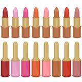 Set with lipsticks and nail polish Stock Image