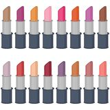 Set with lipsticks on white  Stock Images