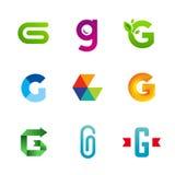 Set listowe G loga ikony projektuje szablonów elementy Fotografia Stock