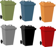 Set of Litter Bins Royalty Free Stock Image