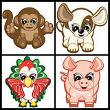 Set of Little Animals Stock Image