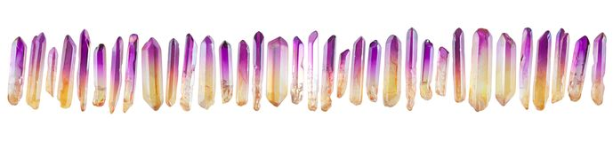 Set of little crystal gemstones Stock Photography