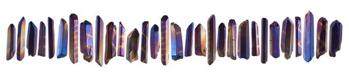 Set of little crystal gemstones stock images