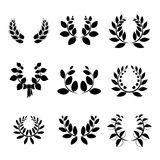Set of little  laurel wreaths Royalty Free Stock Photo
