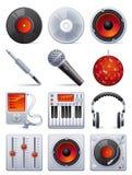 set ljud för symbol Arkivbild