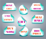 Set of llabels with text - Buy Now, Last Chance Stock Images