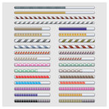 Set load bar, vector illustration. A set of colored rectangular bar load, vector illustration royalty free illustration