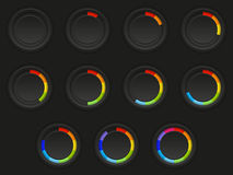 Set of loading buttons vector illustration