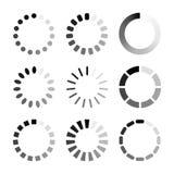 Set of  loading Icon. Futuristic progress bar design stock illustration
