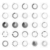 Set of loading status icons,  illustration. Collection of loading status icons,  illustration Stock Photography