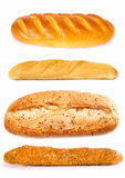 Set of a loaves. On a white background royalty free stock photo