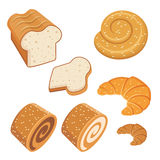 Set of loaves and bread. Royalty Free Stock Photography