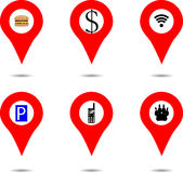Set of location objects Royalty Free Stock Photography