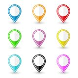 Set of location pin icons Royalty Free Stock Image