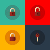 Set of lock icons Stock Images