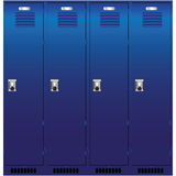 Set of the lockers Stock Photos