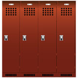 Set of the lockers Royalty Free Stock Images