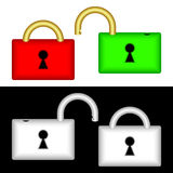 Set of locks Royalty Free Stock Images