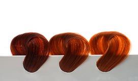 Set of locks of hair Royalty Free Stock Photo