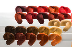 Set of locks of hair Stock Images