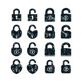 Set of locks icons Stock Photo