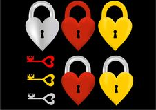 Set of locks and keys vector illustration