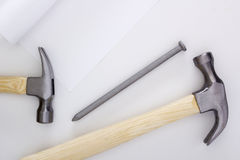 Set locksmith hammers Stock Photos