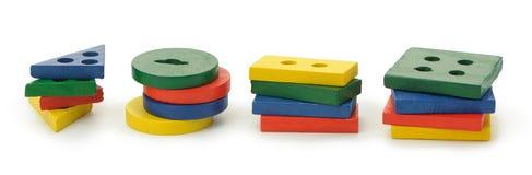 Set of logic wooden toys Stock Image