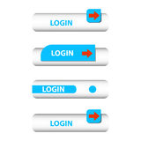 Set of login buttons Stock Photos