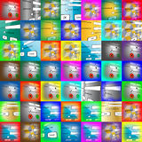 Set of logins. Abstract background consisting of set of images login and password for designers for different needs Royalty Free Stock Photos