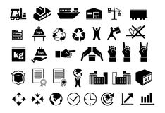 Set of logistic icons 2 Stock Image
