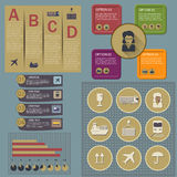 Set of logistic infographic elements Stock Images