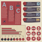 Set of logistic infographic elements Royalty Free Stock Photography