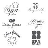 Set of logo, badge, emblem, label, print, sticker Stock Photos