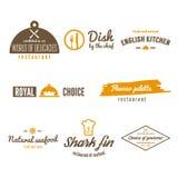 Set of logo, badge, emblem and logotype elements Royalty Free Stock Photos