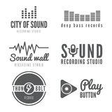 Set of logo, badge,label, sticker, emblem, print Royalty Free Stock Images