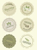 Set the logo for a certificate of health food, vector Stock Photo