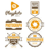 Set of logo and design elements for studio or Royalty Free Stock Photography