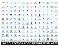 Set of logo design templates royalty free illustration