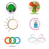 Set of logo designs. Set of fantastic logo designs for business identity Royalty Free Stock Photos