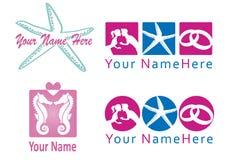 Set logo dla ślubnego planisty i co. Obrazy Royalty Free