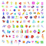 Set 100 logo element Stock Images