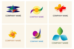 Set of logo elements Royalty Free Stock Photo