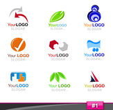 Set of logo elements, part 1 Royalty Free Stock Images