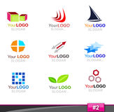 Set of logo elements, part 2 Royalty Free Stock Photos