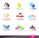 Set of logo elements, part 4 Stock Photo