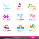 Set of logo elements, part 5 Royalty Free Stock Photo
