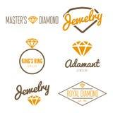 Set of logo, emblem, label, print, sticker or Royalty Free Stock Photo