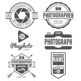 Set of logo, emblem, print, sticker, label or Royalty Free Stock Photos