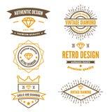 Set logo, etykietka, odznaka i logotyp rocznika, ilustracji